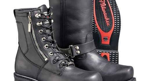 7d8cca6c93a24 Milwaukee Motorcycle Clothing Company Classic Harness Leather Men s Motorcycle  Boots (Black