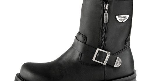 5dd89ee7fbfd Milwaukee Motorcycle Clothing Company Afterburner Leather Women s  Motorcycle Boots (Black